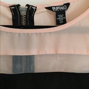 Buffalo David Bitton Tops - Buffalo pink and black shirt. 💕